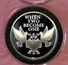 2017 When Two Become One Wedding Gift 🎁 1 Troy Oz .999 Fine Silver Round Coin