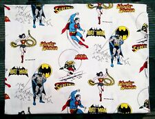 "DC Comics 1977 Vintage Twin Flat Sheet 65"" X 98"" Batman, Robin, Superman"
