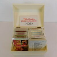 Betty Crocker Recipe Card Library Case Indexes White Plastic Box Vintage 1971