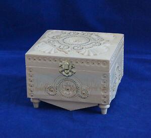 Wooden Jewelry Box Hand Carved Handmade Ukrainian Jewel-case with metal beads