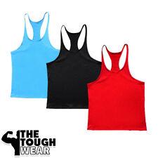 Gym Singlets -pack of 3- Men Tank Top Bodybuilding & Fitness Stringer 5 options