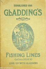Vintage Rare #10 1900's Gladding Antique Fishing Line Catalog 56 Pages SJE347