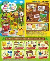 Pokemon camping Shokugan Toy figure x all 8 From japan Pikachu
