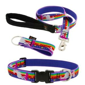 "NEW Lupine Pet 1"" or 3/4"" Magic Unicorn Dog Collar or Leash (Limited Edition)"
