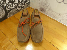 1901 Brown Suede Driving Mocs Men's 10M M05711 Made in Brazil Light Use