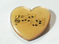 Vintage Music Heart Pin