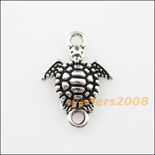 20 New Charms Tibetan Silver Sea Turtle Pendants DIY Connectors 13.5x19mm