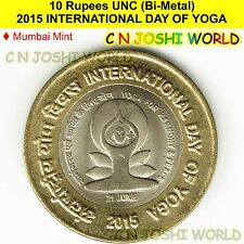 2015 INTERNATIONAL DAY OF YOGA 10 Rupees UNC (Bi-Metal) # 1 Coin