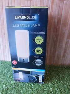 Livarnolux LED Table Lamp Glare Free USB Port Frosted Glass Uses 85% Less Energy