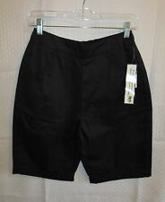 "Palm Harbour Woman Shorts Size PS Inseam 9"" Black Casual Elastic in Back Pockets"