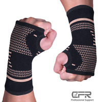 Sports Wrist Arthritis Gloves Medical Hand Support Sprain Copper Compression Fit