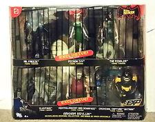 THE BATMAN ANIMATED SERIES ARKHAM ASYLUM 6 FIGURE VARIANT SET Mattel 2006 RARE