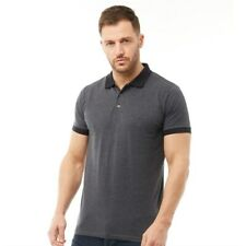 French Connection FCUK Men's Jersey Contrast Collar Polo Shirt - S, M, L
