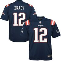 New England Patriots Tom Brady Nike Navy Color Rush Game Jersey On Field Men M
