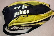 Prince Rebel Plus Tennis Bag, Fits 6 Rackets, Yellow & Black, W/ Backpack Straps