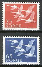 Norway 1956, Birds, Swans, Scandinavia issues set MNH Sc 353-54