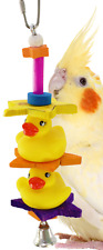 1323 Duck Duck Bird Toy parrot cage toys cages african grey conure cockatiel