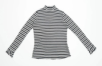 Marks & Spencer Womens Size 12 Striped Cotton Multi-Coloured Top (Regular)