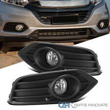 For 19-20 Honda HR-V HRV Front Bumper Fog Lights Pair+Matte Black Bezel+Switch