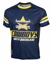 North Queensland Cowboys NRL Sublimated Logo Training T Shirt Sizes XL-4XL! W6