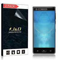[2-Pack] J&D BlackBerry Motion [Soft Skin] Bubble Free HD Clear Screen Protector
