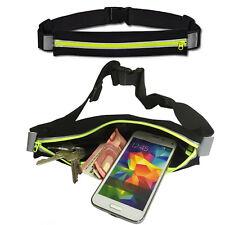 HQ Joggingtasche Laufgürtel Sport Fitness Gürtel Tasche für HTC Desire 12 GELB