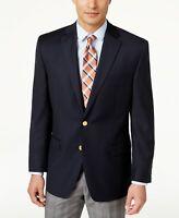 $350 Lauren Ralph Lauren Total Comfort Navy Blazer Mens 42S 42 Gold Buttons NEW