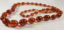 Lovely Vintage Joan Rivers Faux Amber Graduated Necklace