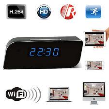 Wireless Clock Camera WIFI IP Room Home Security Video Recorder No SPY Hidden MP