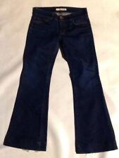 J Brand women's size 27 blue bell bottom jeans distress on hem of Jeans. JJ15