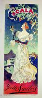 Ferdinand Bandeja: Scala, Yvette Guilbert - Litografía Original, Firmada, 1895