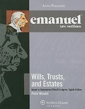 EMANUEL LAW OUTLINES WILLS TRUSTS AND ESTATES KEYED TO By W. Peter 9780735579231