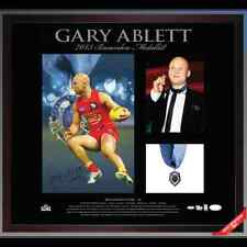 GOLD COAST SUNS GARY ABLETT JNR HAND SIGNED AND FRAMED AFL BROWNLOW MEDAL PRINT