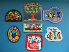 7 Lot of Girl Scouts Badges Patches GSUSA BSA BSC WSB Merit Camp #12