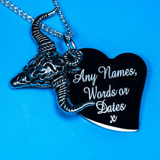 Personalised Farm Ox Cow Head Spain Free Name Engraving Charm Pendant Necklace