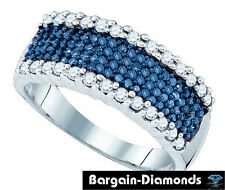 blue diamond wedding band ring love promise .61-ct anniversary 925 engagement