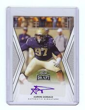 AARON DONALD St. Louis Rams - Pittsburgh Panthers 2014 Leaf DRAFT Autograph RC