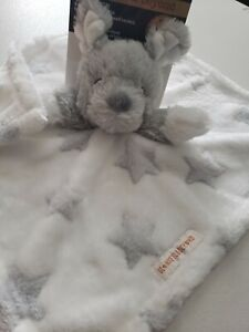 《NEW》Blankets & Beyond Soft Baby Security Blanket Lovey Plush Toy - Grey Puppy