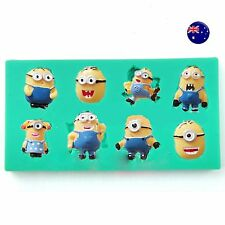 Minions Chocolate Cake Candy ice Cube mini Cookie Silicone Mold Mould Decorating