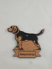 Personalized Beagle Wooden Christmas Ornament (Free Shipping)