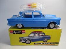 Telsalda 20725 - SINGER VOGUE + roof rack & luggage BLUE  plastic friction Boxed