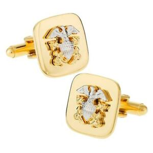 NAVY CUFFLINKS Officer Armed Forces US Military USN United States NEW w GIFT BAG