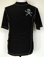 Mossimo Boy's Rash Guard Black Poly/Spandex Skull S/S Shirt XL (16/18)