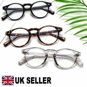 Unisex Retro Round Anti-Blue Light Glasses Blue Ray Blocking Eyewear Eyeglasses