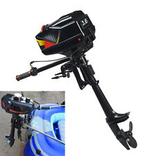 3.6HP Heavy Duty Outboard Motor Boat Engine w/Water Cooling System 2 Stroke