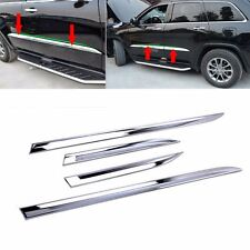 Fits Jeep Grand Cherokee 2014-2020 Chrome Body Side Door Molding Line Cover Trim