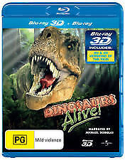 DINASAURS ALIVE  (narrated by Michael Douglas)     NEW BLURAY + 3D