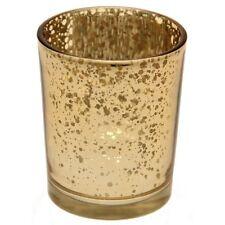 Gold Tea Light Holder Mercury Glass Candle Votive Vintage Wedding Decoration