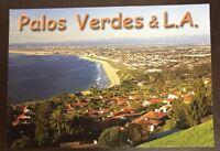 Palos Verdes Estate & Los Angeles, California.Facing Beach Communities Postcard