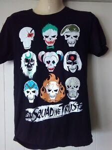 mens dc comics t-shirt, black, Suicide Squad, Black, Cotton, XS, in squad we tru